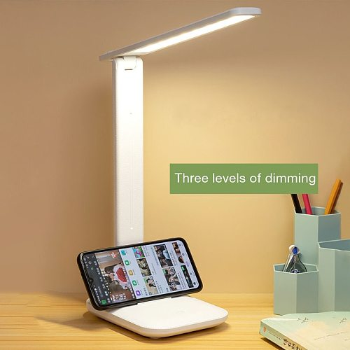 Led Desk Lamp Touch Three-Speed Dimming Foldable Table Lamp  Usb Charge Eye Protection Bedroom Bedside Reading Night Light