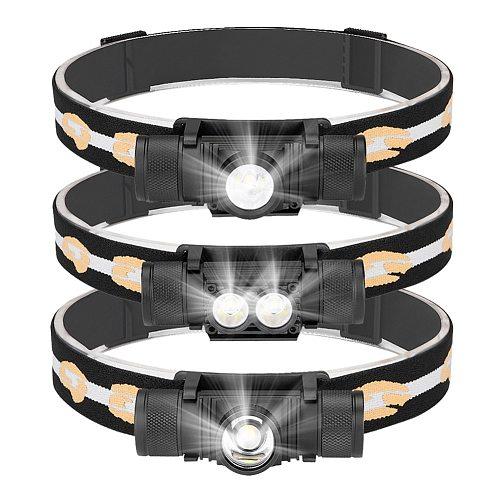 Sanyi XML-L2 LED Headlamp USB Charging Interface 18650 Cycling Headlight 6-Mode Dimming Head Torch Camping Fishing Head Lantern