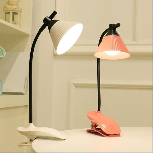 Table Lamp LED Lamp With Clip Flexo USB Rechargeable Desk Lamp Touch Three-speed Dimming Eye Protection Reading Studying Lamp