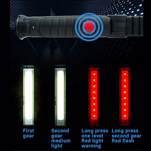 COB Work Light with Magnet LED Flashlight USB Rechargeable Foldable Portable Lamp Car Maintenance Light Camping light