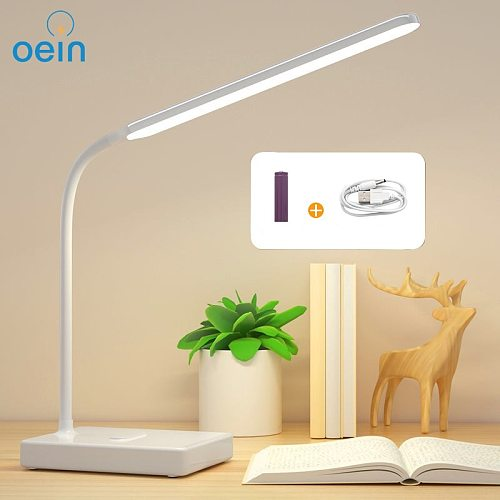 Desk Lamp Led Table Lamp Three-color Touch Dimmable Usb Rechargeable Eye Protection Flexible Reading Light Study Bedside Lamp
