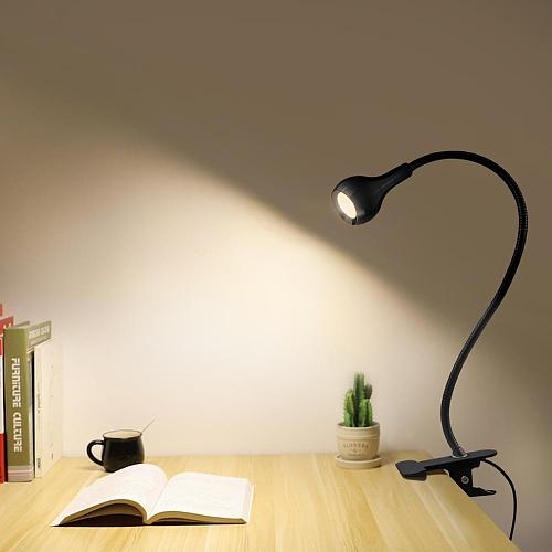 5V USB power LED Desk lamp Flexible study Reading Book lights Eye Protect Table lamp With Clip for home bedroom study lighting