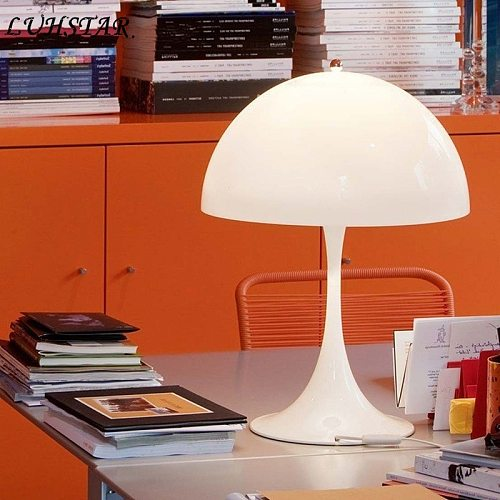 Creative Mushroom Table Lamp Bedroom Bedside Lamp Modern Minimalist Home Decor Desk Lamp Office Study Reading Lighting Fixtures