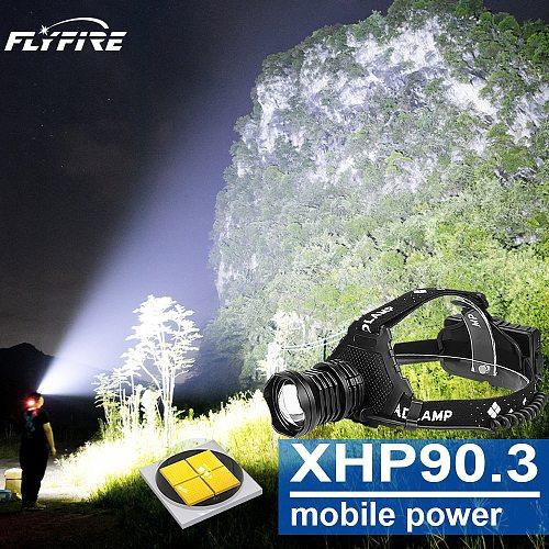 400000LM xhp90.3 high power led headlights usb 18650 rechargeable headlamp led head lamp light head flashlight torch xhp70 xhp50