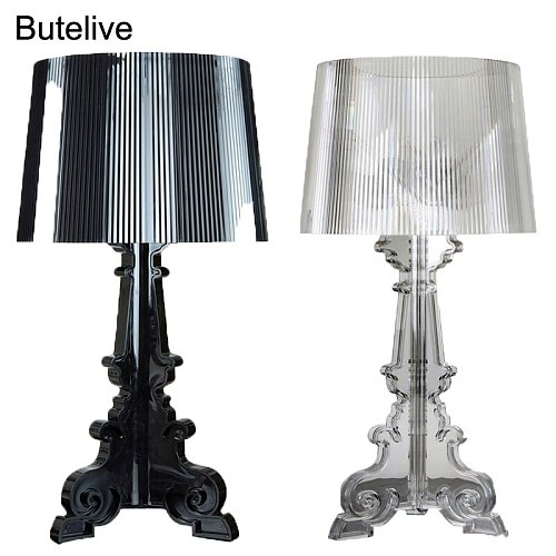 Acrylic Table Lamp Modern Crystal Bedside Lamp Acryl Desk Lamp Transparent Bed lamp Bedroom Living Room Night Lamp EU Plug E27