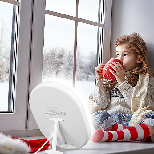 Light Therapy Lamp 10000 Lux UV-Free Light Healing Wellness Natural Daylight Brightness Adjustable Mood Improve Sad Lamp