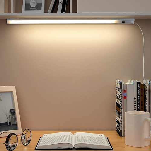 Led Reading Desk Lamp Hand Sweep Switch Control USB Led Bar Light Computer Cabinet Kids Study Table Lamps Dormitory Rigid Bulbs