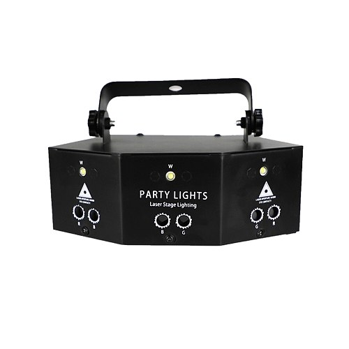 9 Eyes Laser Stage Projector With Controller for Disco Party Strobe Lights Effect Lamp Professional RGB Disco Light DJ Lamp