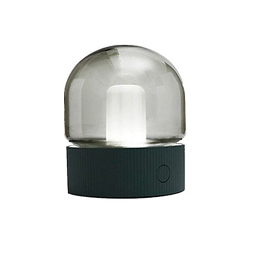 USB Rechargeable Vintage Glass Night Light Retro Nostalgic Desktop Bulb 2 Light Colors Dimmable Breathing Night Lamp With Timer