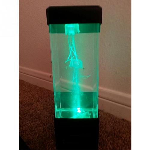 Jellyfish Tank Night Light Tank Aquarium Style USB LED Lamp Sensory Autism Lava Lamp LED Desk Lamp Dropshiping #