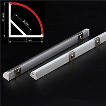 2-30pcs/lot 0.5m/pcs 45 degree angle aluminum profile for 5050 3528 5630 LED strips Milky white/transparent cover strip channel