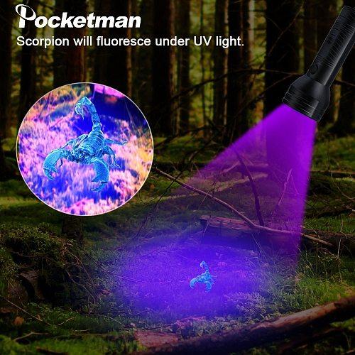 UV Flashlight Purple Light Torch 51LED 21LED 12LED UV LED Flashlight UV Light 395-400nm LED Torch Lamp Safety UV Detection