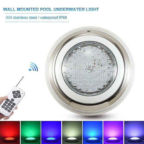 Modern Stainless Swimming Pool Lights Par56 IP68 Submersible Lamp LED Underwater Light RGB Multi-color AC12V Fountain Wall Lamps