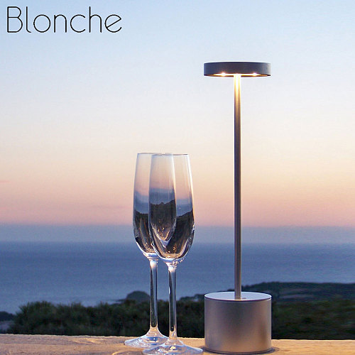 Portable Bar Table Lamps Restaurant Bedroom Desk Light Fixtures Led Chargeable Battery Bedroom Office Stand Light Home Decor