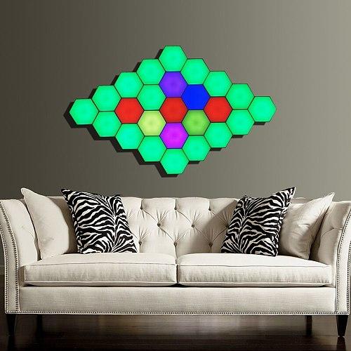 Modern LED Night Light Quantum Lamp Modular Sensitive RGB Colors Touch Helios Lighting Home Decoration Bedside Magnetic Lights