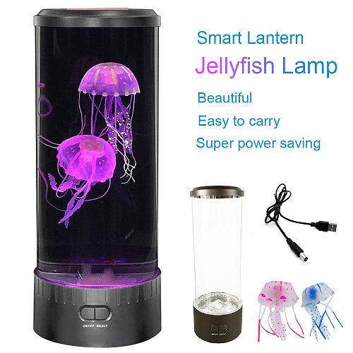 LED Tower Jellyfish Lamp Night Light USB Mood Desk Bedside Lamp Fantasy Aquarium Hypnotic Color Home Decor