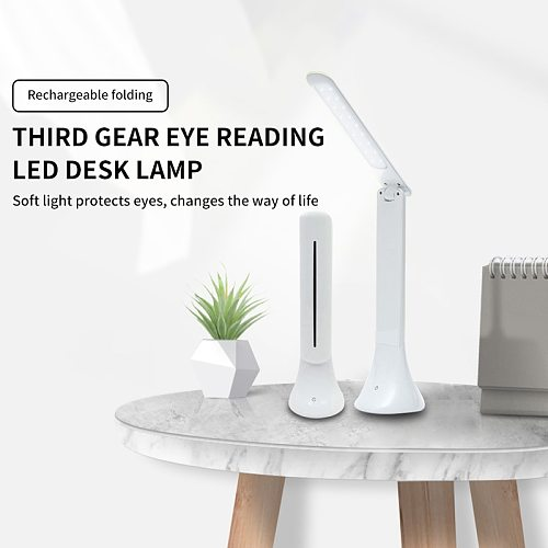 Foldable White Manicure Salon LED Nail Lamp Desk Table Reading Light