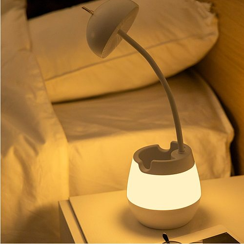 LED Table Light usb charging folding three-speed dimming table lamp bedroom bracket pen holder eye protection lamp