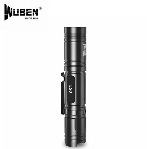 WUBEN L50 1200 lumens led18650 battery flashlight tactical micro USB rechargeable flashlight portable camping waterproof flashli