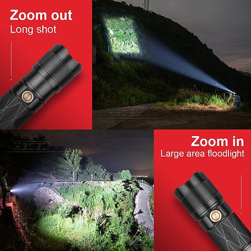 600000LM xhp100 powerful led flashlight USB torch Rechargeable tactical flashlight xhp90 High power flashlights xhp70 xhp50 lamp