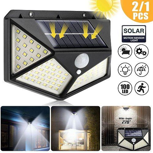 100 Led Solar Light Outdoor Solar Wall Lamp LED Bulb IP65 PIR Motion Sensor Lampara solar led light outdoor lighting