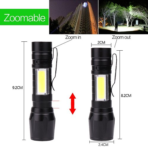 LED Flashlight Ultra Bright Torch Rechargeable Camping Light Linterna Zoomable USB Bicycle Light Waterproof Torch