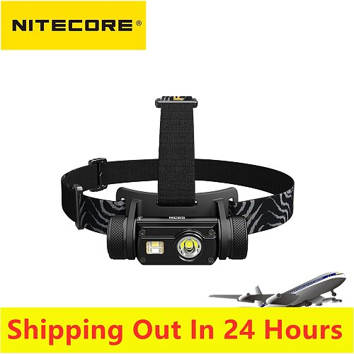 Original Nitecore HC65 Headlamp 1000LM Triple Output Ourdoor Headlight Waterproof Flashlight included 3400mah Battery
