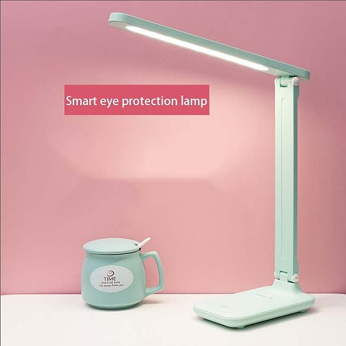 LED desk lamp eye protection learning plug in bedside reading lamp in student bedroom Free shipping for bedroom table lamp