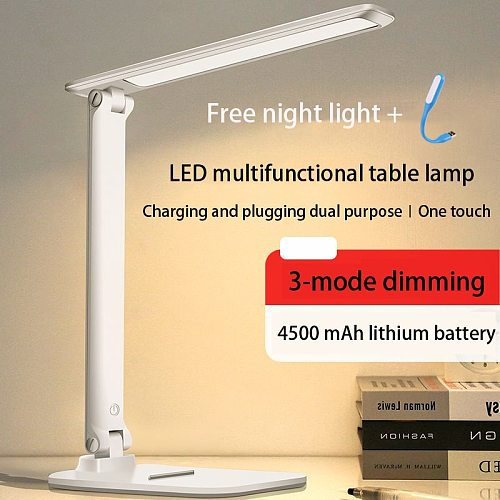 LED desk lamp eye protector charging small Reading lamp Free shipping for bedroom table lamp led lamp rechargable
