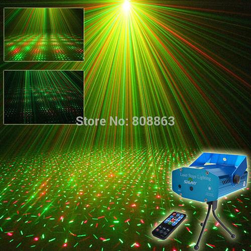 Mini R&G Remote Full Stars Sky Pattern Laser Projector Club Bar Shop Dance Disco Party Xmas DJ Stage lighting Light Tripod N8R1