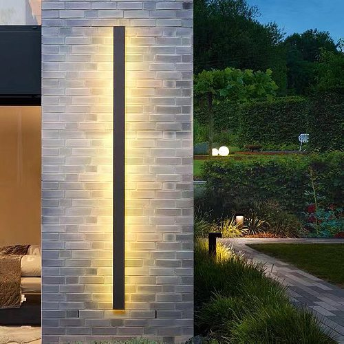Led Wall Lamp Indoor Outdoor Long Wall Light Bedroom Living Room Sofa Background Wall Sconce Lighting Fixture AC220V
