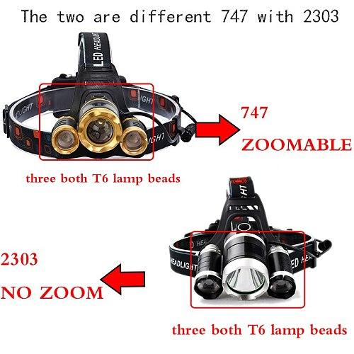 Litwod Z30 13000LM LED T6 Headlamp Head Lamp lighting Light Flashlight Torch Lanterna Fishing+18650 battery+charger+packing box