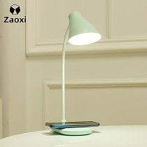 ZAOXI Intelligence Phone Wireless Charging Sensor Touch LED Table Lamp Simple Touch Controll Brightness Adjustable USB Lamp Z174