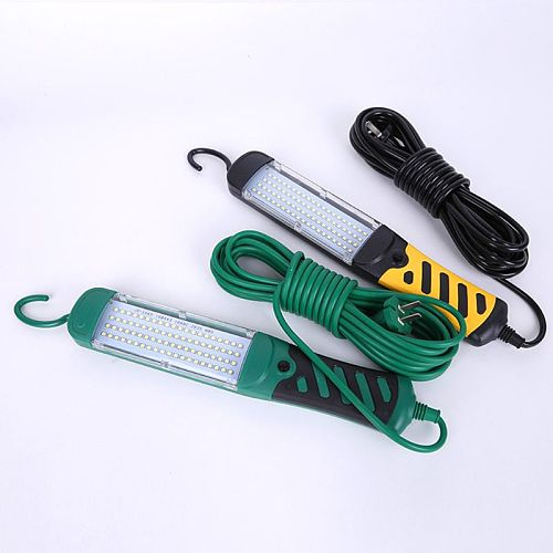 Portable LED Emergency Safety Work Light Handheld 80 LED Beads Flashlight Car Inspection Repair Torch 220V With Hook Portable