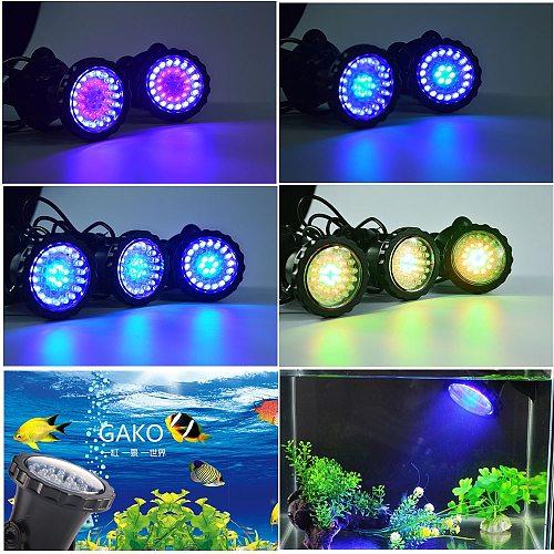Waterproof LED Underwater Lights Lamp RGB Underwater Spot Light for Swimming Pool Fountains Pond Water Garden Aquarium Light