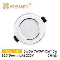 LED Downlight 3W 5W 7W 9W 12W 15W Recessed LED Spotlight Ceiling Lamp AC 220V 230V 240V Indoor Lighting Warm White Cold White