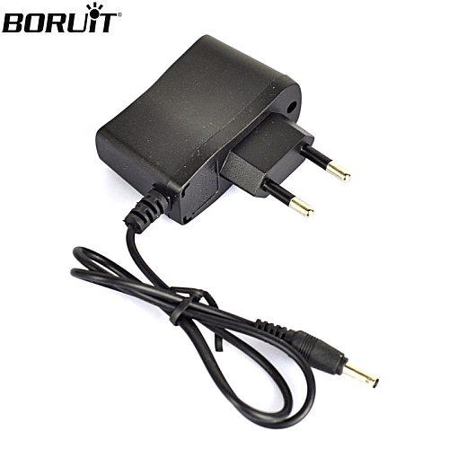BORUIT 4.2V EU/AU/US Plug DC3.5MM Charger Cable For Headlamp Headlight Flashlight Forehead Head Torch Charging