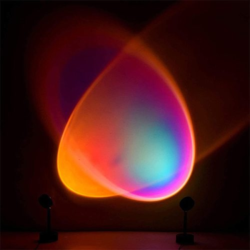 2021 NEW  Rainbow Sunset Projector Lamp  Led Night Light Home Shop Background Wall Decoration