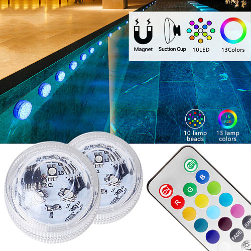 IP68 Waterproof RGB Submersible LED RGB Night Light Underwater Light For Fish Vase Bowl Outdoor Garden Wedding Party Decoration