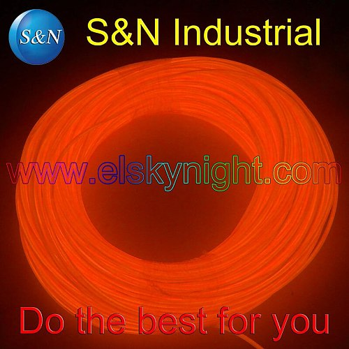 Orange 100M Flexible Wire Rope Tube Neon Light with100-240VACinverter for holiday,party,festival and house decoration free EMS