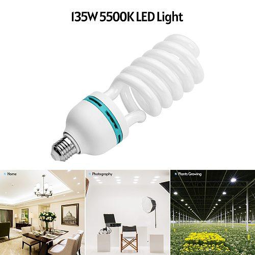 Andoer Spiral Fluorescent Light Bulb 135W 5500K Daylight CRI90 E27 Socket Energy Saving for Studio Photography Video Lighting
