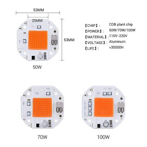 220V 110V 100W 70W 50W COB LED Grow Light Welding Free LED Chip for Plants Growing Grow Light Tent Full Spectrum LED Phytolamp