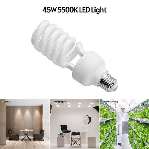Andoer Spiral Fluorescent Light Bulb 45W 5500K Daylight E27 Socket Energy Saving for Studio Photography Video Lighting