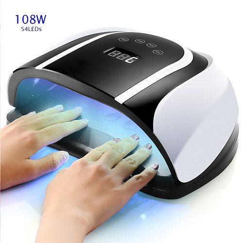 Pro UV Lamp LED Nail Lamp High Power For Nails All Gel Polish Nail Dryer Auto Sensor Sun Led Light Nail Art Manicure Tools