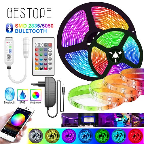 2M-30M LED RGB 5050 Strip Lights SMD Flexible Bluetooth Ribbon 2835 NON Waterproof RGB LED Light Tape Diode DC 12V Control