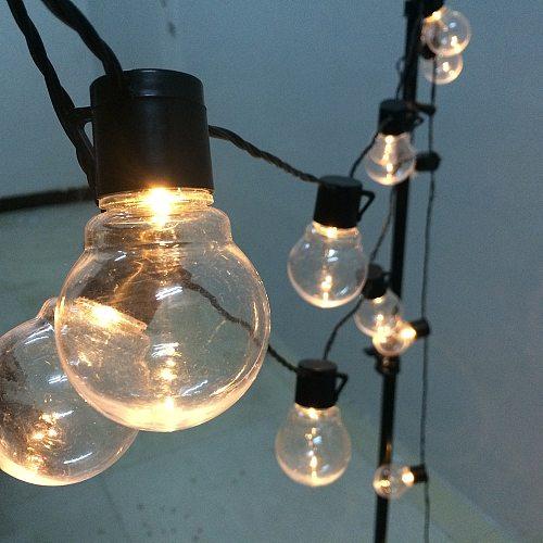 6m/11m Led Globe String Fairy Light Christmas Wedding Festoon Bulb String Light For Party Holiday Garden Garland