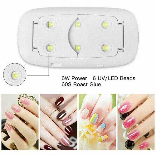 Nails Lamp LED Light Potable Mini UV LED Lamp Nail Dryer Gel Fast Cure Nail Art Tool USB 6W pink white Micro Manicure Tool