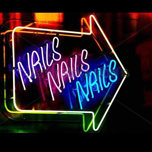 Decorative Light Nails Nails Neon Bulb Light Beer Bar Studio Decorate Lamp Enseigne Lumineuse Window Display Handmade glass Tube