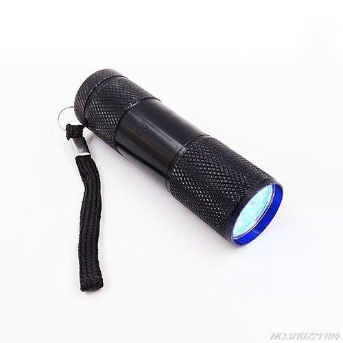 9W UV Resin Curing Lamp Light 9 LED 395nm UV Resin Nail Dryer Blacklight Flashlights Jewelry Tools D04 20 Dropshipping