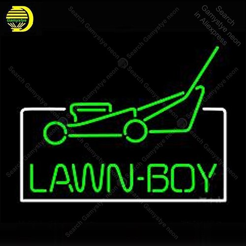 Neon Sign Lawn Boy Logo Auto Decorate wall Handcrafted Neon lights Sign Real glass Tube Iconic Advertise Art Custom Lamps